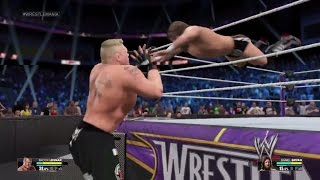 WWE 2K15 Daniel Bryan vs Brock Lesnar WWE World Heavyweight Championship (PS4)