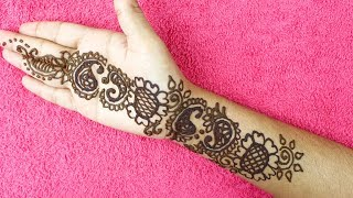 Latest Stylish Mehndi Design For Hands In 6 Minutes
