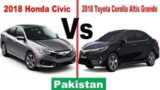 2018 Honda Civic vs 2018 Toyota Corolla Altis Grande | Pakistan