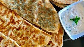 Bolani Afghani,  Perakai, afghan flat bread, afghan naan recipe,  طرز و تهیه بولانی افغانی