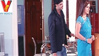 Anjali flirting Rahul   Sorry Maa Aaayana Intlo Unnadu Movie   V9 Vidoes