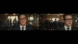 Kingsman comparison bar fight eggsy & harry