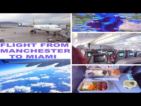 My Flight From Manchester To Miami - 2016 4K
