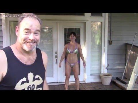 Exoman spray tanning Farm Girl using Tango Sun spray tanning solution