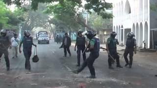Rajshahi Jamat Sibir Hartal Footage 02 11 2014