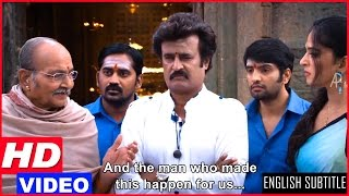 Lingaa Tamil Movie Scenes HD | K Viswanath requests Rajinikanth to stay back in the village