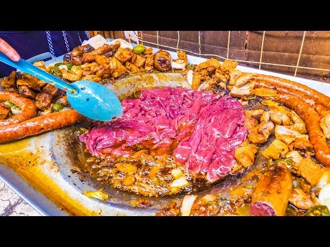 EXTREME Mexican Street Food BLOOD CACTUS Tacos and SPICY Street Market TACO Tour in Mexico City