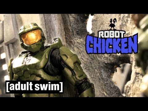 Halo and the Master Chief Compilation Robot Chicken Adult Swim
