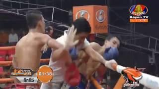 Khmer Boxing, Bun Sothea Vs Saengsuriyak(Laos), Kun Khmer Boxing, Bayon TV Boxing