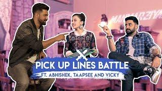 Pick Up Lines Battle ft. Abhishek, Taapsee and Vicky   Manmarziyaan   MissMalini