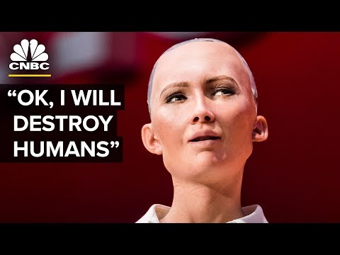Xxx Mp4 Hot Robot At SXSW Says She Wants To Destroy Humans The Pulse CNBC 3gp Sex