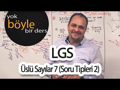 8.Sınıf - Matematik - Üslü Sayılar 7 (Soru Tipleri 2)