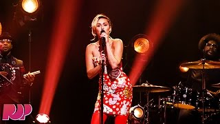 Miley Cyrus Pauses Performance To Comment On Jimmy Fallon's Trump Controversy