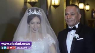 صدى البلد   أحمد موسى يبكي في زفاف ابنته «منة الله»