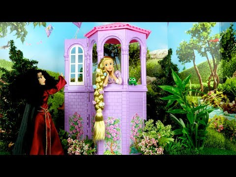 Barbie Rapunzel Bedroom Morning Routine Cruise Ship with Elsa & Anna