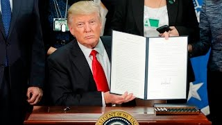 Trump signs order to build Mexico border wall