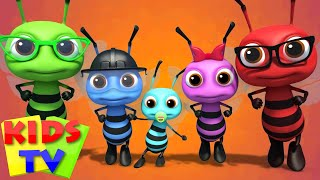 Bee Finger Family Nursery Rhymes Songs For Children Videos For Kids And Babies kids tv S03 EP68