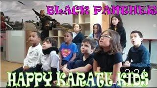 Black Panther TV RISE Trailer Reaction Happy Karate Kids
