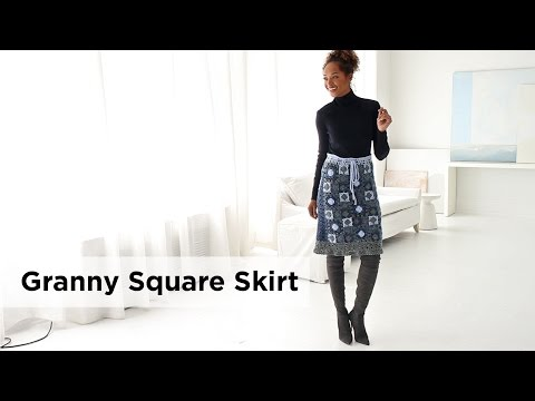 Granny Square Skirt made Jeans®