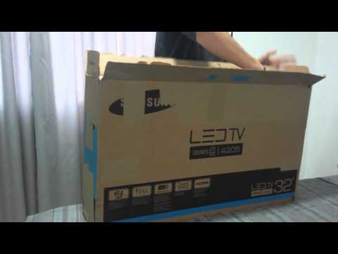 Unboxing Tv Samsung 32 4205