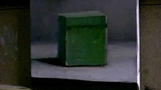 Green Box - Daily painting by Jos van Riswick