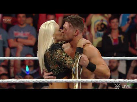 The Miz and Maryse Kiss - Raw April 4, 2016