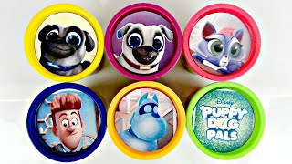 Disney Jr. PUPPY DOG PALS Learn Colors Play-doh Toy Surprise Eggs, Rolly Bingo Hissy NEW Plush/ TUYC
