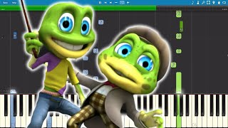 The Crazy Frogs - The Ding Dong Song - Piano Cover Remix - Tutorial