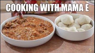 COOKING WITH MAMA E |  BANKU & OKRA STEW
