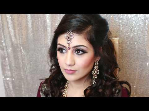 Asian Bridal Walima look | Party hair and makeup | Soft halo eyes | Makeup by Aquila