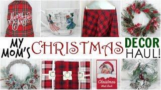 My Mom's Christmas Decor Haul ♡ 2017 ♡ HomeGoods, TJ Maxx, Marshalls & JoAnn Fabrics ♡