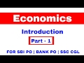Introduction Of Economics Part 1 For SBI PO BANK PO SSC CGL mp3