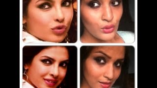 Priyanka Chopra-Pinky from Zanjeer inspired makeup tutorial-Gunmetal smokey eyes and pink lips