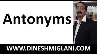 Best Video of Antonyms by Dinesh Miglani Tutorials