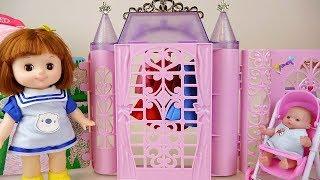 Baby doll house closet washing toys baby Doli play