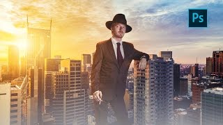 Photoshop Manipulation Tutorial | How to Change Background and Do Lighting Effects