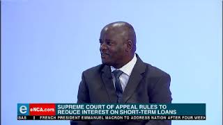 Supreme court of appeal rules to reduce interest on short term loans