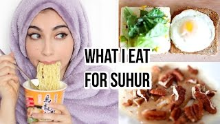 What I Eat For Suhur | 2017