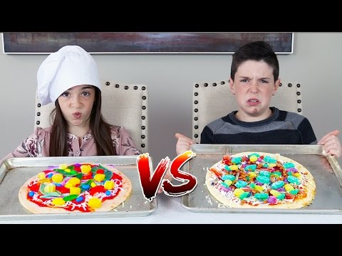 GUMMY FOOD vs REAL FOOD! - Pizza Edition
