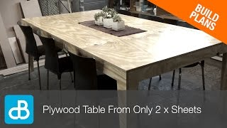 How to Build a Table from Only 2 Sheets of Plywood - by SoundBlab