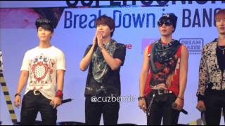 [FANCAM] 130215 Super Junior-M Break Down in Bangkok - Press Conference
