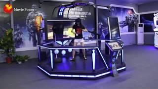 Virtual Reality Simulator With VR Infinite Space Walking Platform
