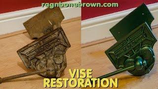 Restoring an old woodworking vise (Rededa Number 2)