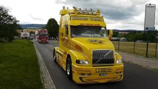 Truck Konvoi in Bautzen