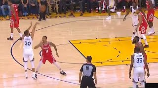 Stephen Curry And Klay Thompson Have A 3 Point Contest During The Game! Warriors vs Rockets Game 6