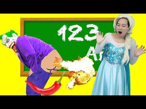 Xxx Mp4 Frozen Elsa Spiderman AT SCHOOL HOT PEPPER PRANK Bad Kids W Joker Fun Superhero In Real Life IRL 3gp Sex