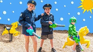 PJ Masks Bubble Patrol with the Assistant and Bat Boy Ryan and Paw Patrol