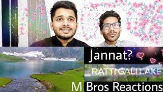 M Bros Reaction On Ratti Gali Lake Drone Video The Lake Of Dreams  Neelam Velley - AJK Pakistan.