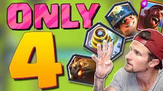 ONLY 4 CARDS! :: Clash Royale :: CHALLENGE GAME!