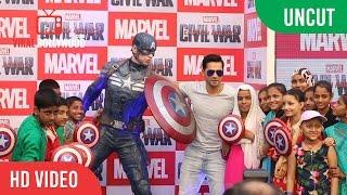UNCUT - Varun Dhawan As Marvel's Captain America- Civil War | Varun Dhawan Dubbing For Hindi Version